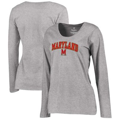 Maryland Terrapins Women's Campus Long Sleeve T-Shirt - Heathered Gray