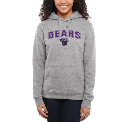 Central Arkansas Bears Women's Proud Mascot Pullover Hoodie - Ash -