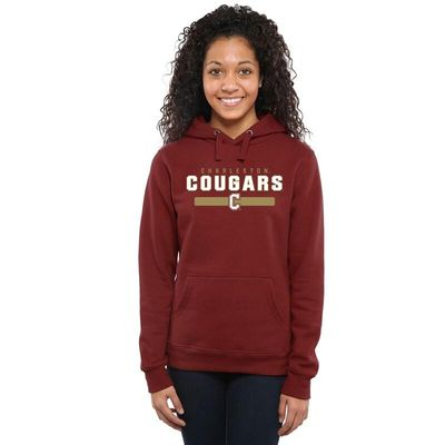 Charleston Cougars Womens Team Strong Pullover Hoodie - Maroon