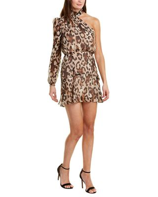 Rachel Zoe Fergie Silk-Blend Mini Dress