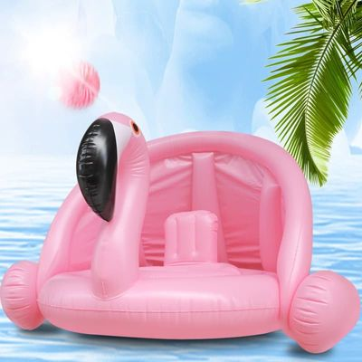 Baby Float Flamingo Inflatable Awning Swimming Boat Baby Swimming Seat Ring Swimming Pool Accessories For Kids Baby Pool Float