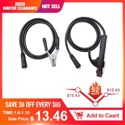 300A Groud Welding Earth Clamp Clip Set for Mig Tig ARC Welding Machine 1.5M Cable 10-25 Plug Professional