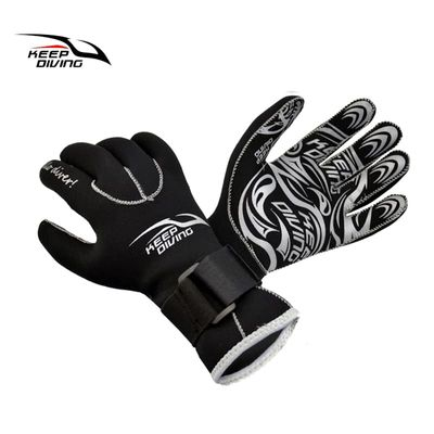 KEEP DIVING 3MM Genuine Neoprene Gloves Anti Scratch and Keep Warm for Scuba Diving Winter Swim Spearfishing Kayaking Surfing