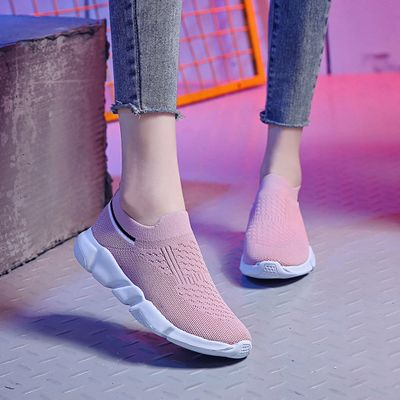 2020 Women's Outdoor women sneakers shoes soft outsole Mesh Slip-On Sports Shoes Run Breathable Shoes Sneakers#g30