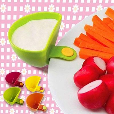 1PCS Assorted Seasoning Sugar Salad Tomato Sauce Dishes Kitchen Clip Bowl Dip