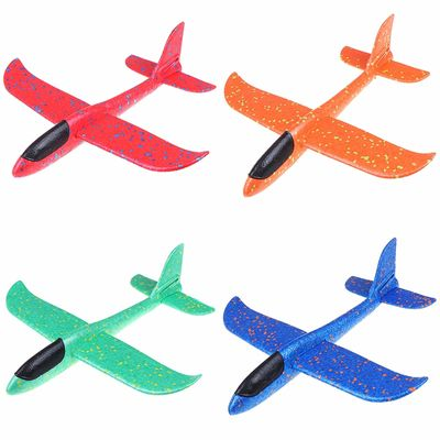 37CM EPP Foam Hand throw airplane Outdoor Launch Glider Plane Kids Toys Interesting Launch Throwing Inertial Model toys