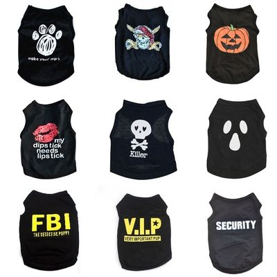 Cat Clothes Puppy Shirt For Dogs Halloween Cat Vest Small Dog Clothing Pet T-shirt Summer Dog Clothes Ropa Perro Yorkie Bulldog