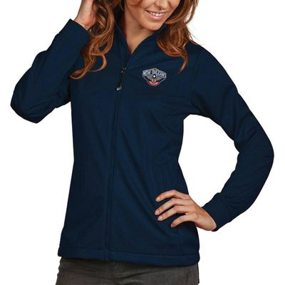 New Orleans Pelicans Antigua Women's Golf Full-Zip Jacket - Navy