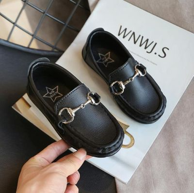Boys Girls Leather Shoes for Kids Wedding Show School Dress Flats Shoes Light Classic Children Performance Loafer Moccasins