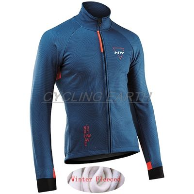 Northwave 2019 Winter Jacket Thermal Fleece Men Cycling Jersey Clothing Mountain Outdoor Triathlon Wear Bicycle Clothes NW