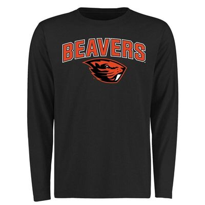 Oregon State Beavers Proud Mascot Long Sleeve T-Shirt - Black -