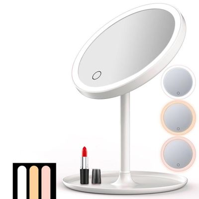 USB Rechargeable LED Adjustable Daylight Cosmetic Makeup Mirror Desktop Lamp Bright color, fine and smooth, highly pigmented,