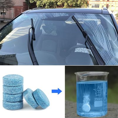 10 Pcs Car Windshield Wiper Washer Concentrated Effervescent Tablets Solid Window Cleaner Car Tidy Glass Fluid Screen Detergent