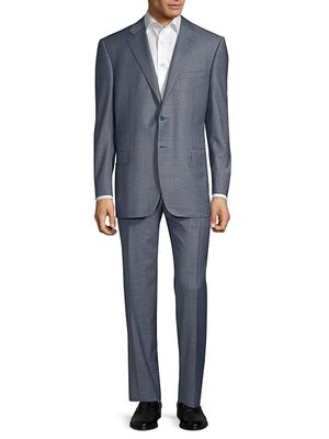 Canali Classic-Fit Wool Check Suit