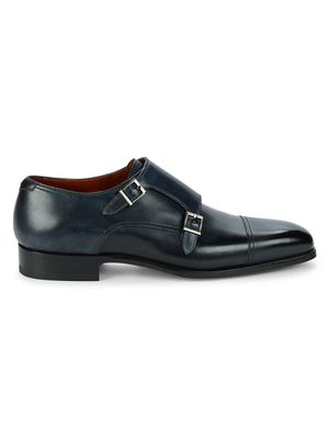 Magnanni Wooster Monk-Strap Leather Oxfords