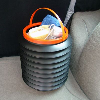 Fashion 4L car folding collapsible bucket multi-purpose fishing buckets high quality container storage box hanging WY411