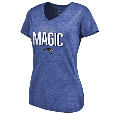 Orlando Magic Women's Nostalgia Tri-Blend V-Neck T-Shirt - Royal
