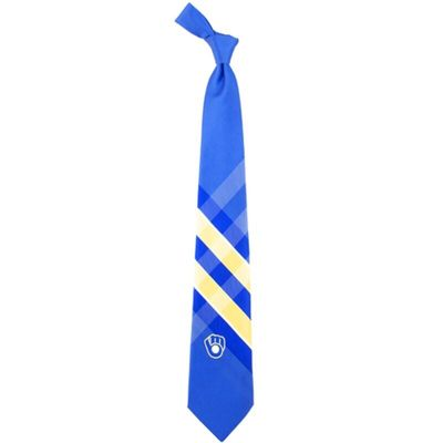 Milwaukee Brewers Woven Poly Grid Tie