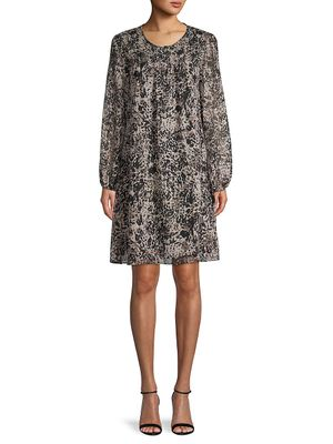 Tommy Hilfiger Printed Long-Sleeves Dress