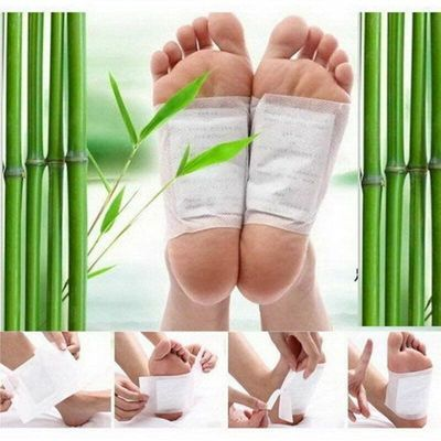 10pcs Patch for Body Health Foot Stick Detox Foot Patches Ginger Salt Gold Patch Cleansing Herbal Health Care Foot Care Tool