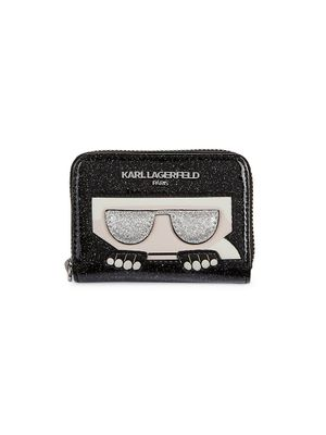 Karl Lagerfeld Paris PVC Zip-Around Card Wallet