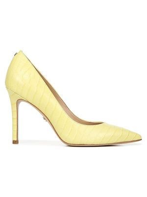 Sam Edelman Hazel Croc-Embossed Leather Pumps
