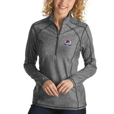 Colorado Avalanche Antigua Women's Tempo Desert Dry 1/2-Zip Pullover Jacket - Charcoal
