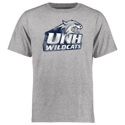 New Hampshire Wildcats Big & Tall Classic Primary T-Shirt - Ash