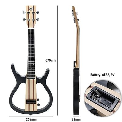 Beautiful Sound Ukulele 4 Strings 26in Acoustic Electric