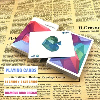 1 Deck Diamond Birds Poker Playing Cards Collection Black Core Paper Creative Gift L469
