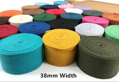 38mm Wide polyester/cotton thick plain canvas belt webbing Backpack strap luggage accessories bag making sewing DIY craft