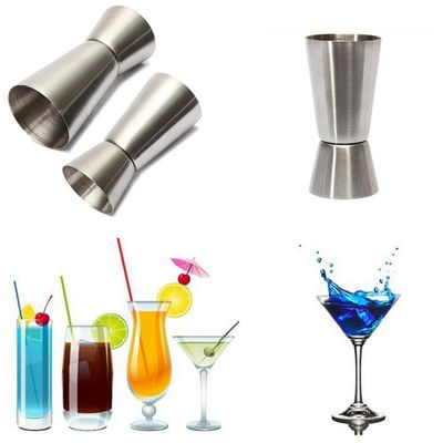 15/30ml Stainless Steel Bar Measures Jigger Bar Party Wine Cocktail Shaker Jigger Kit Dual Spirit Drink Measure Cup Bar Tool S35