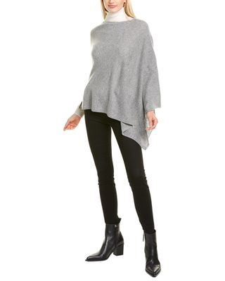 Amicale Cashmere Solid Cashmere Poncho