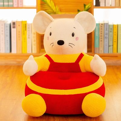 Oeak NO Filling Material Children Learn Sit Sofa Skin Washable Infant Sofa Cover Cute Short Plush Comfort Baby Chair Cover