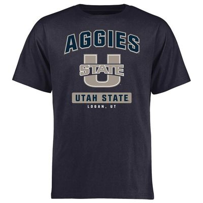 Utah State Aggies Campus Icon T-Shirt - Navy