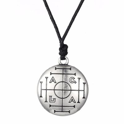 Lemegeton Medieval Talisman for Wealth Pentacle Pendant  Necklaces  Ceremonial Magic Amulet Jewelry Ethnic Style Women Jewelry