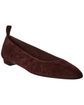 The Row Lady D Suede Ballet Flat