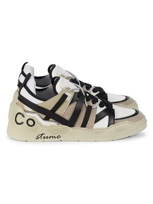 Costume National Mixed-Media Sneakers