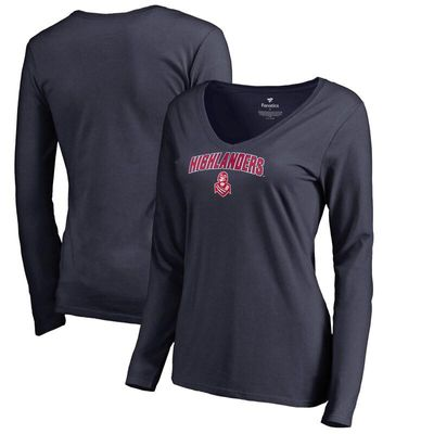 Radford Highlanders Women's Proud Mascot Long Sleeve T-Shirt - Navy