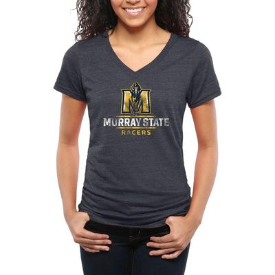 Murray St. Racers Women's Classic Primary Tri-Blend V-Neck T-Shirt - Navy