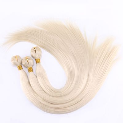 FSR 100 gram/pcs 613# Straight Hair Weaving 14-30 Inch Synthetic Hair Extensions double weft hair Bundles