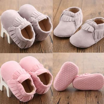 Baby Girls Fringe Crib Moccasins Soft Sole Shoes Fashion Solid Color Tassel Cotton Casual Shoes