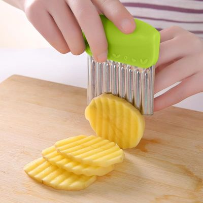 Wavy French Fries Cutter Stainless Steel Potato Slicer Vegetable Chopper Veggie Slicer Durable Kitchen Gadgets Cutter
