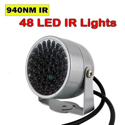 New Invisible illuminator 940NM infrared 60 Degree 48 LED IR Lights for Night Vision CCTV Security 940nm IR Camera Fill light