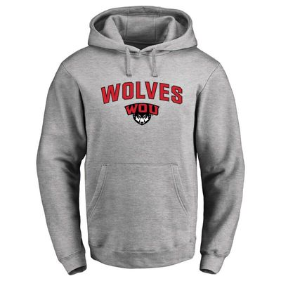 Western Oregon Wolves Proud Mascot Pullover Hoodie - Ash -