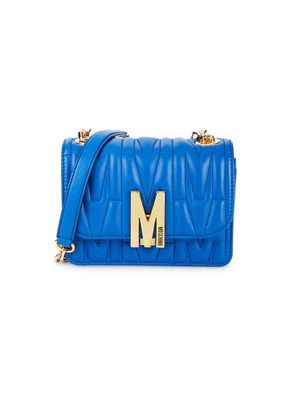 Moschino Couture! Quilted Chain Leather Shoulder Bag