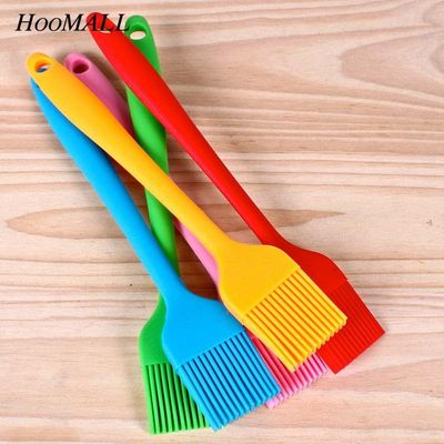 Multi Color Silicone Basting Pastry Brush Oil Brushes For Cake Bread Butter Baking Tools Kitchen Safety BBQ Brush 21*3cm