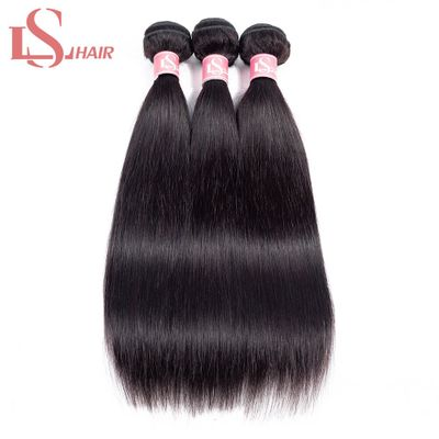 LS HAIR Brazilian Straight Human Hair Weave Bundles Natural Color Remy Human Hair Extension Brazilian Human Hair Short Bundles