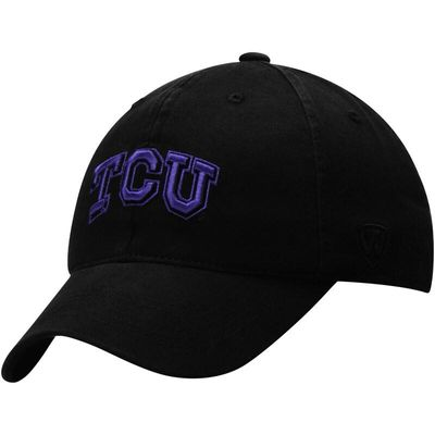 TCU Horned Frogs Top of the World Relaxer 1Fit Flex Hat - Black