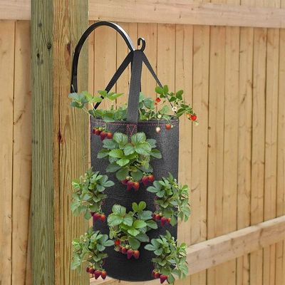 Hot Hanging Strawberry Planter for Strawberry Bare Root Plants 2 Pack Hanging Planter for Strawberry,Non-woven fabric Plant Pots